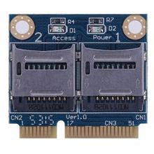 Мини-pcie адаптер для карт памяти PCI-E для двойной TF SDHC SDXC конвертер для чтения