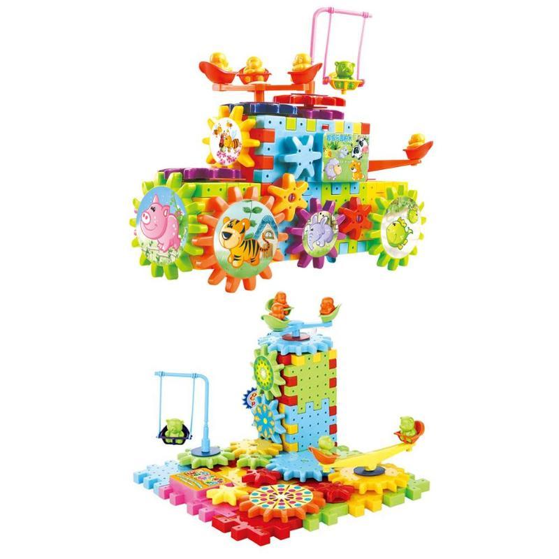 82pcs/Set Creative Plastic Kids Electric Building Blocks Children DIY Assembled Puzzle Educational Rotary Toys Gifts82pcs/Set Creative Plastic Kids Electric Building Blocks Children DIY Assembled Puzzle Educational Rotary Toys Gifts