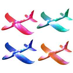35-48 см ручной запуск метания планера EVA самолет 3 режима светодио дный свет самолет игрушка детский самолет модель игрушки открытый