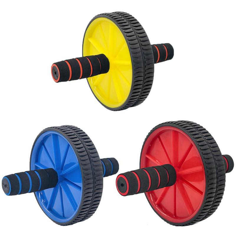 Double-wheeled Abdominal Press Wheel Rollers Exercise Equipment For Home Gym Body Building Fitness With Hassock