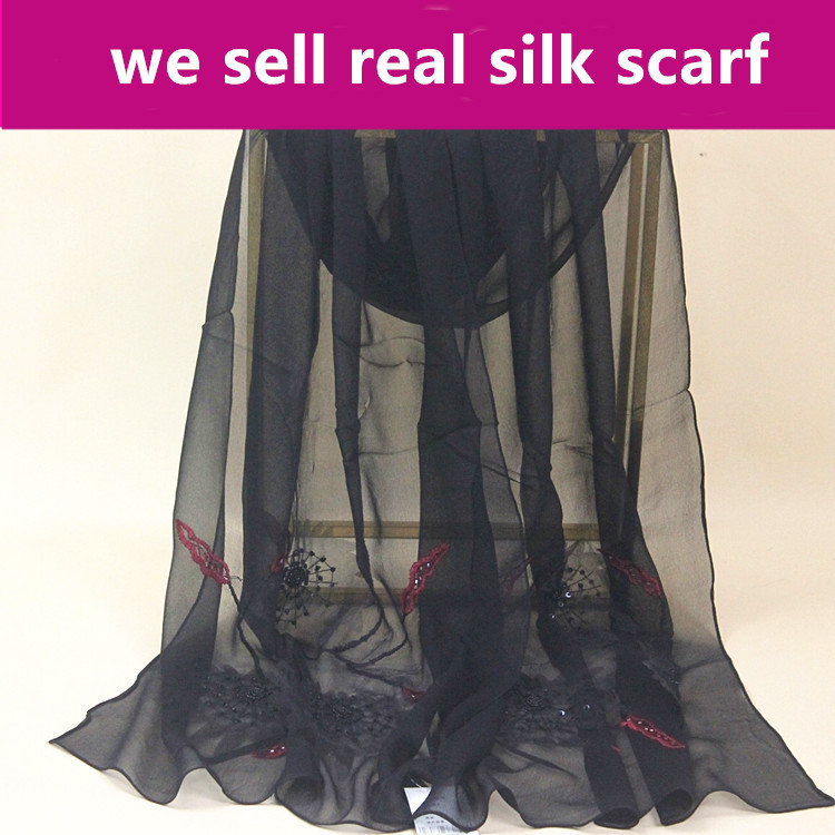 Back To Search Resultsapparel Accessories georgette Sturdy Construction #s150 100% Silk Scarf,color:as Pictures,size:50*160cm