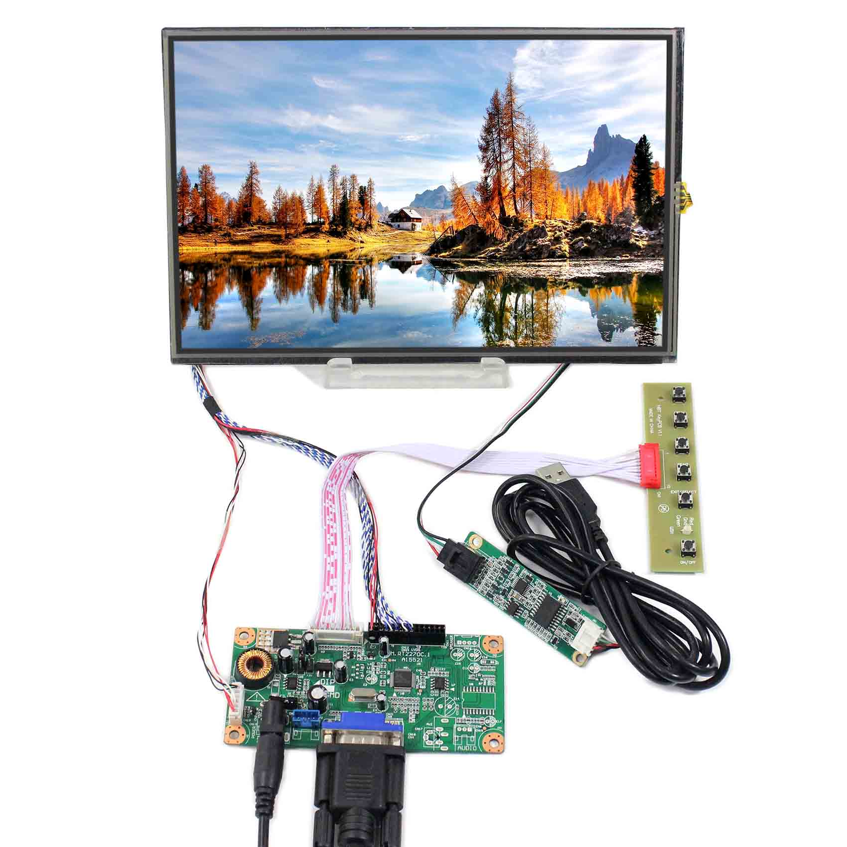 10.1inch M101NWWB 1280X800 LCD Screen With Resistive Touch Panel VS101TP-A4 work with VGA LCD Controller Board10.1inch M101NWWB 1280X800 LCD Screen With Resistive Touch Panel VS101TP-A4 work with VGA LCD Controller Board