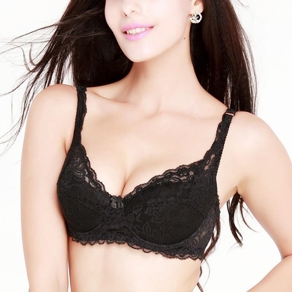 a1b82e8ffd367 Summer Breathable Ultrathin Push Up Lace Bra Ladies Brassiere Comfortable  Sexy Padded Bra Hollow Out Bras for Women