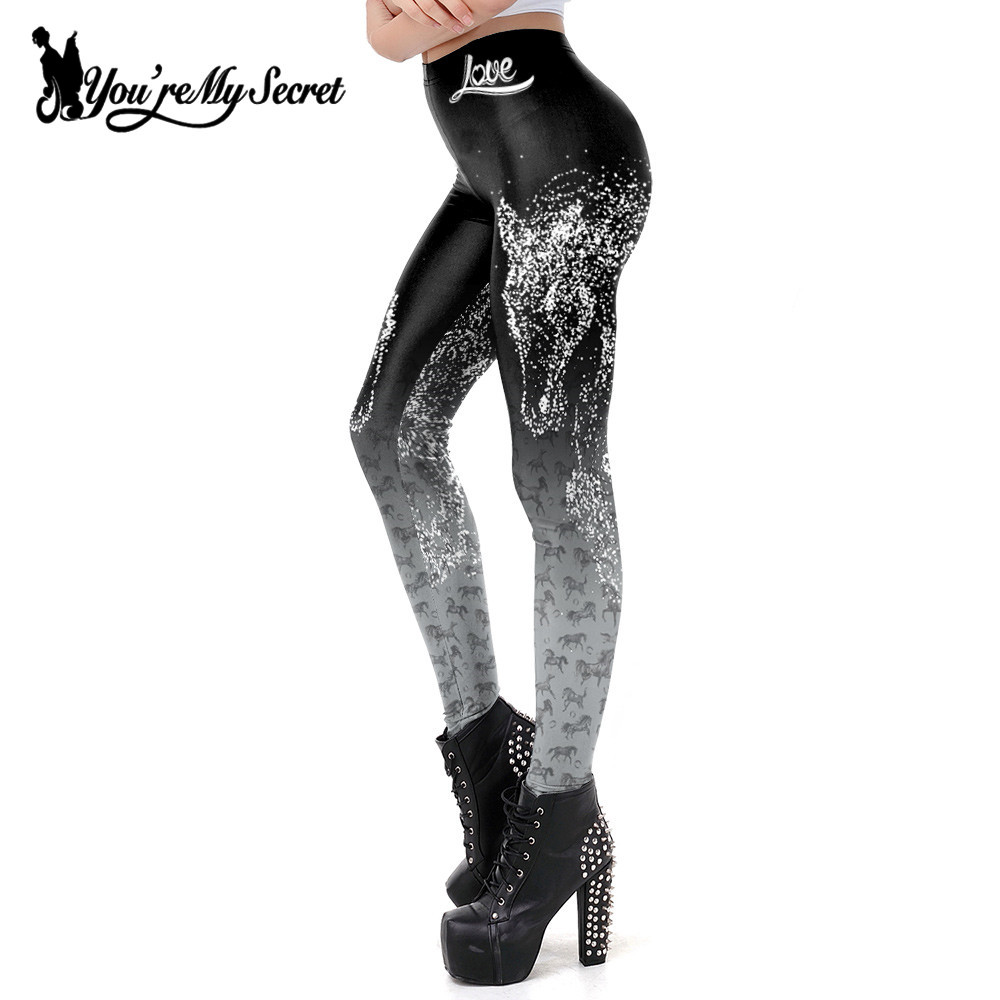 [You're My Secret]New 3D Horse Printed Leggings Women Fashion Sexy Fitness Leggings For Woman Pants Workout Leggins Plus Size