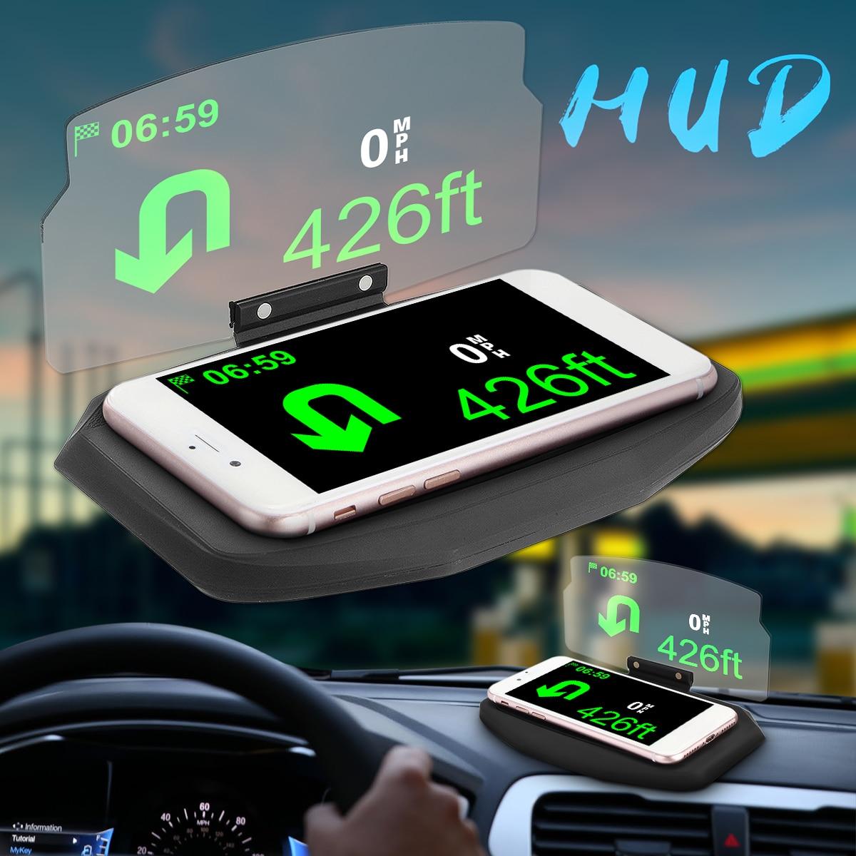 Auto Windschutzscheibe Projektor HUD Head Up Display Universal Handy Halter Multifunktions 6,5 zoll Für iPhone Für Samsung GPS