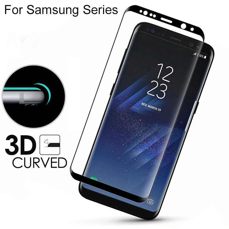 3D Curved For Samsung Galaxy S10 Plus S10e 5G Case Tempered Glass For Samsung Note 10 Pro 9 8 S9 S8 S 8 9 10 Plus e Film Cover