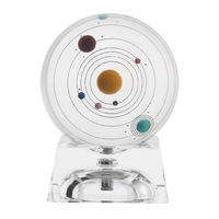 Miniature Solar System Model Crystal Ball Laser Engraved Planet Ball Gifts Christmas Decor