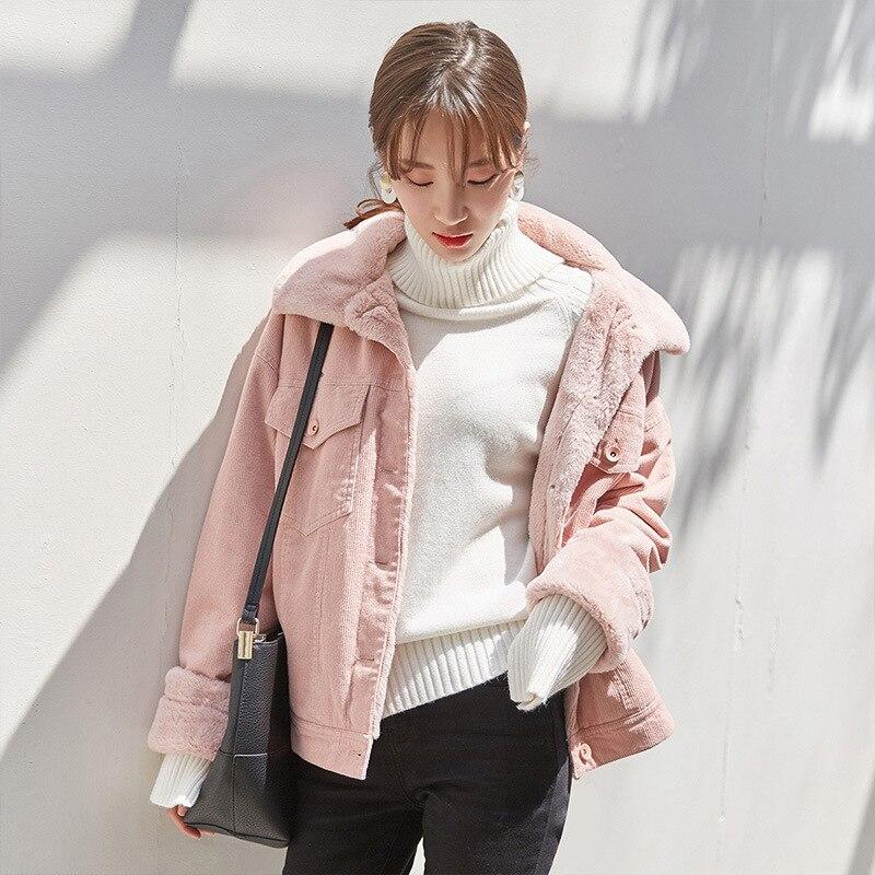 Rose Complet Femelle Lâche Décontracté Directe Nouvelle Automne En Régulier Feminino hiver 2019 Laine Jaqueta Vente Ajouter Veste Casaco Feminina k8PwO0n