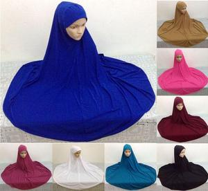 Image 1 - Muslim Large Overhead Abaya Jilbab Islamic Clothes Women Prayer Hat Dress Long Scarf Ramadan Large Hijab Full Cover Headscarf