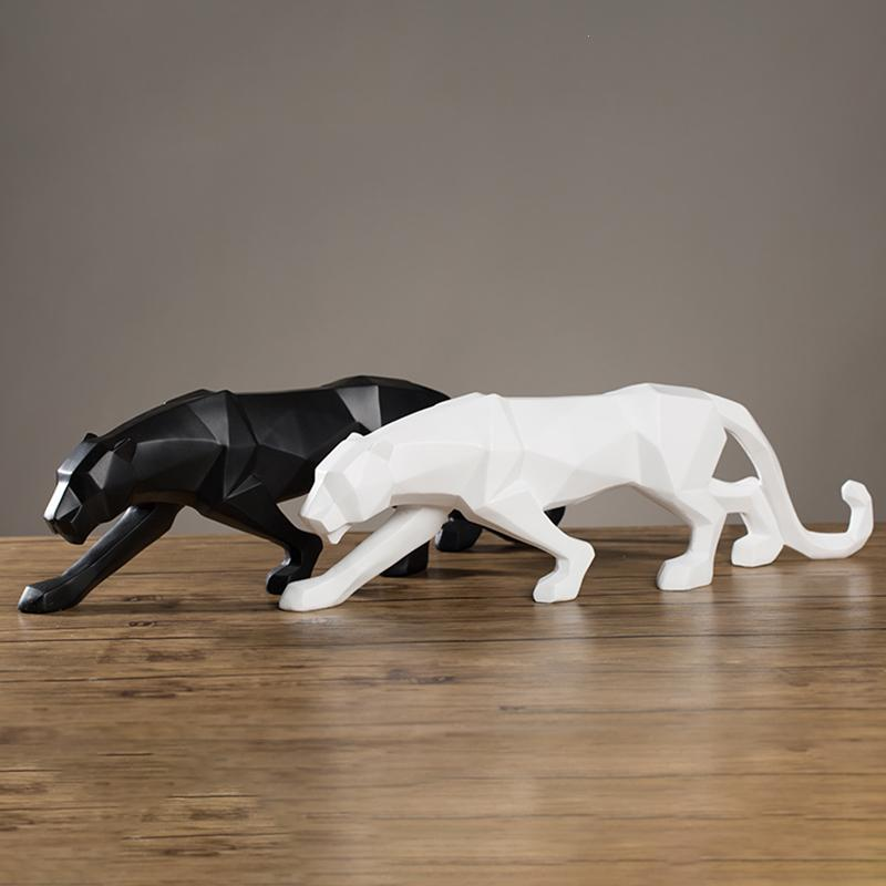 1pc Statues For Decoration Resin Modern Abstract sculpture Black Panther Sculpture Gift Craft Office Home Decor #A301pc Statues For Decoration Resin Modern Abstract sculpture Black Panther Sculpture Gift Craft Office Home Decor #A30