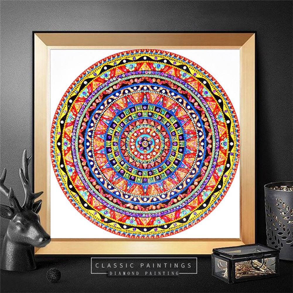 HUACAN 5D Diamond Painting Flower Rhinestone Picture DIY Diamond Embroidery Mandala Special Shape Diamond Mosaic Kit 30x30HUACAN 5D Diamond Painting Flower Rhinestone Picture DIY Diamond Embroidery Mandala Special Shape Diamond Mosaic Kit 30x30