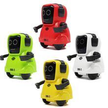 LEORY Мини карманный умный радиоуправляемый робот функция записи свободно вращающаяся на 360 рука робот игрушка для детей подарок