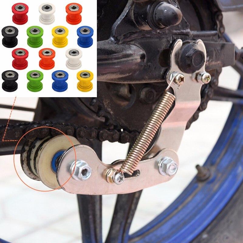 8/10mm Drive Chain Roller Pulley Wheel Slider Tensioner Wheel Guide For Enduro Motorcycle Motocross PIT Dirt Bike ATV CRF CR XR