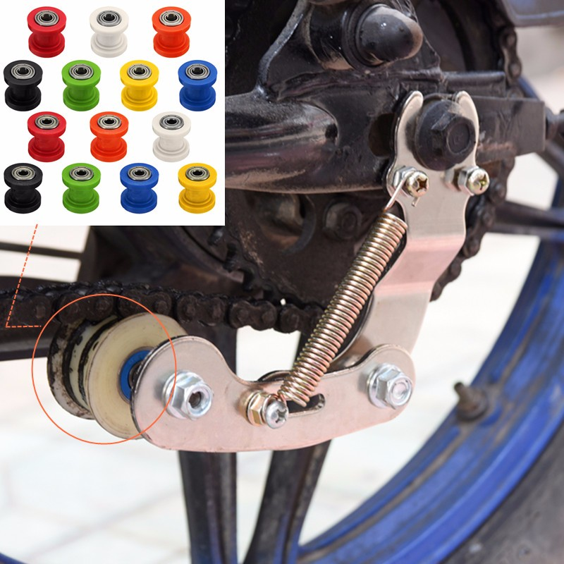 8/10mm Drive Chain Roller Pulley Wheel Slider Tensioner Wheel Guide For Enduro Motorcycle Motocross PIT Dirt Bike ATV CRF CR XR