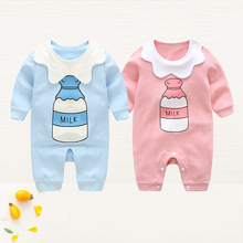 321a4f46c0c JOYINPARTY Autumn kids baby rompers infant girls clothes newborn jumpsuit  Milk Bottle Letter printed romper bebes