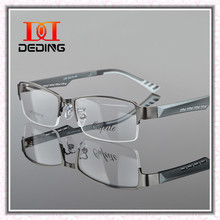 Metal Semi-rimless Frame Eye Glasses Men Business Eyewear Clear Lens Myopia Glasses Frame Armacao de Oculos de Grau DD0771