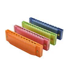 Plastic 10 Hole Harmonica Diatonic Harmonica  Blues Universal Musical Toys Musical Instruments for Children Gift Set 4 Colors цены