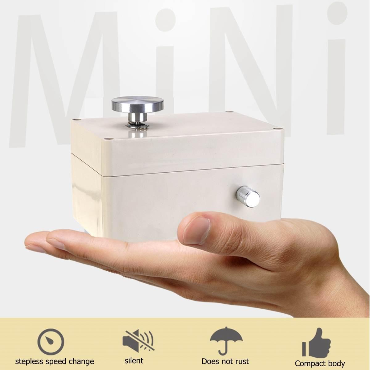5 V USB alliage d'aluminium Mini roue de poterie 4.5 cm bouton de tourne-disque changement de vitesse en continu avec 5 pièces outils en argile en bois - 4