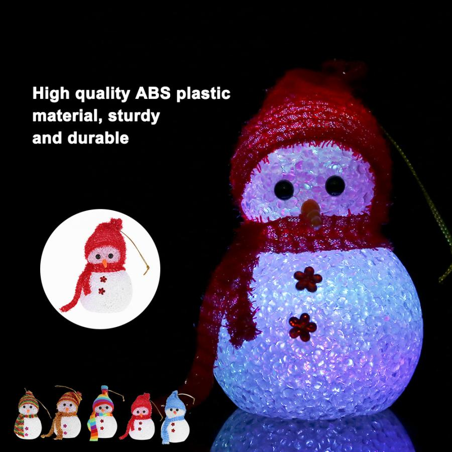 Snowman Style LED Night Light Lamp Colorful Night Lamp For Home Bar Cafe Christmas Decorations New Arrival