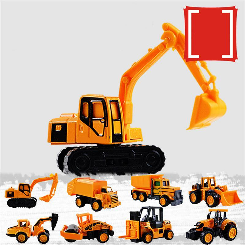 Mini Alloy Engineering Car Tractor Toy Dump Truck Model Classic Toy Cars For Children Set Alloy Engineering Vehicle Excavator