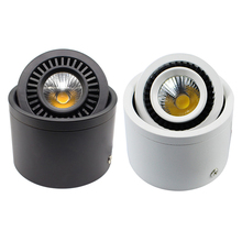 5W/7W/9W/20W LED COB Downlight Surface Mounted white or black body Ceiling Lamp AC85-265V Spot Light With LED Driver все цены