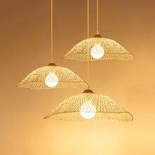 Vintage Wood LED  Pendant Lights Creative Restaurant Lamps Room Decoration Hanglamp Modern Wooden Hanging Fixtures