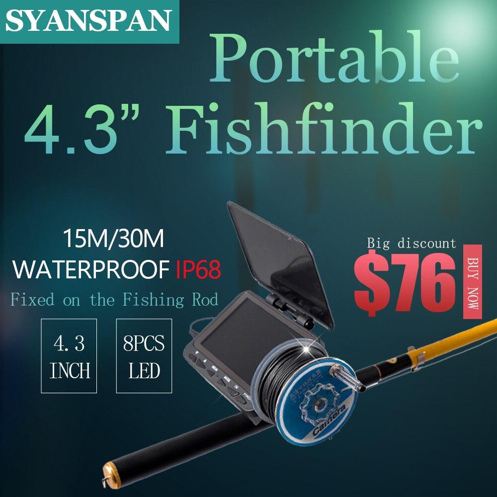 SYANSPAN détecteur de poisson sous-marin caméra vidéo pour la pêche 1000TVL 4.3