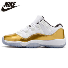 cheap for discount 997e5 d1651 Nike Air Jordan Gold AJ 11 Retro Low Men s Basketball Shoes Shock Absorbing  Comfortable Outdoor Sports Sneakers  528895-103