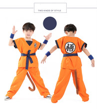 Halloween Dragon Ball Z Goku Suit Son  Cosplay Costumes Top\ Pant\Belt\Tail\wrister\Wig \For Adult children boys girl Size