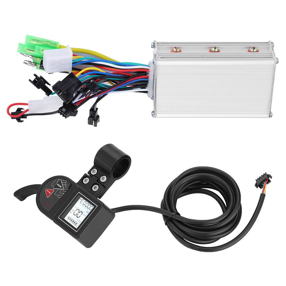 250W//350W Waterproof LED Display Panel Electric Bicycle Scooter Brushless Controller Kit for Steady Speed 24V 250W//350W Sensitive Control of Braking Direction Changes Brushless Controller