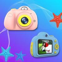 Kids 2 Inch Digital Mini Camera Cartoon Cute Camera Toys Children Birthday photography Gifts educational toddler toys camera