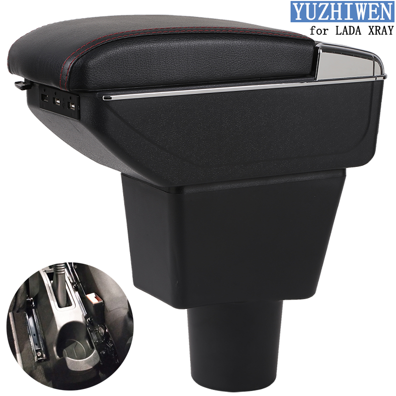 Image 2 - For LADA XRAY Armrest Box LADA XRAY Universal Car Central Armrest Storage Box cup holder ashtray modification accessories-in Armrests from Automobiles & Motorcycles