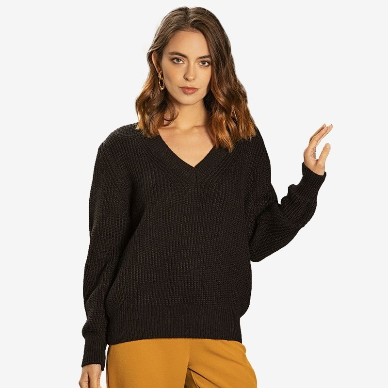 Sweater C.H.I.C female CHIC TmallFS gradient color chic long sleeves knit sweater