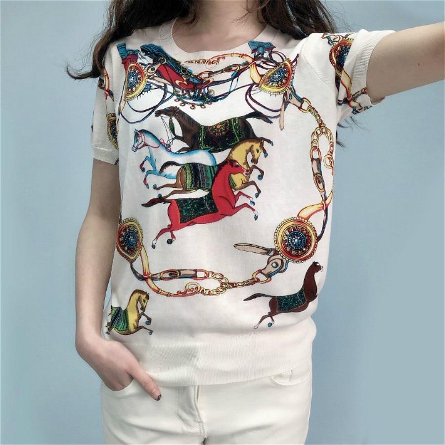 Women Blouse New Fashion Short Sleeve Office Shirt Silk Printed Blouse Shirts Casual Summer Tops Blusas Femininas Chemise Femme