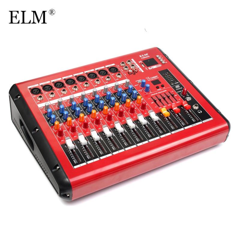 buy elm karaoke mixing microphone bluetooth 8 channel professional digital. Black Bedroom Furniture Sets. Home Design Ideas