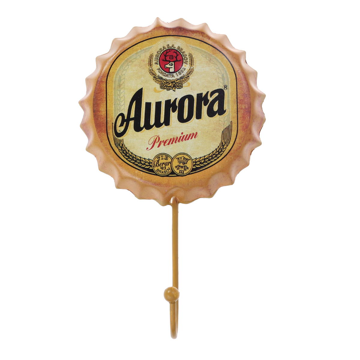 Bathroom Hardware Hospitable Retro Wrought Iron Beer Bottle Caps Decorative Hooks Rat Rod Stickers Beer Cafe Bar Art Decor Garage Wall Art Clothes Hook Driving A Roaring Trade