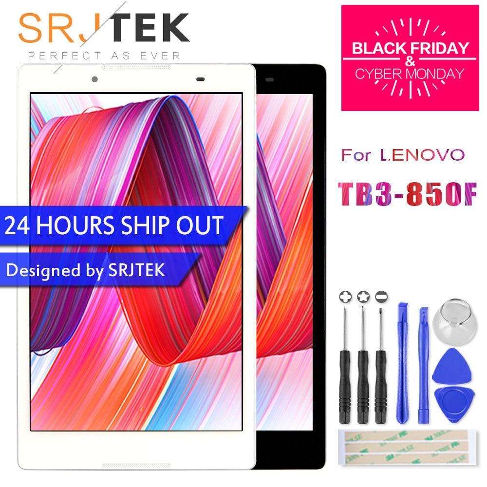 Srjtek 8.0 Pour Lenovo Tab3 Tab 3 8 850 TB3-850 TB3-850F TB3-850M Tactile Panneau Écran LCD Affichage Matrice Assemblée avec cadre Pièces