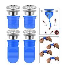 4 шт. в упаковке, односторонний клапан для труб в туалете, ванной, сливное уплотнение, защищающее запах и ошибки, 1,97