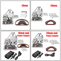 110 240v Electric Belt Sander Polishing Grinding Machine Knife Edges Sharpener Woodworking Metal Grinder Free 10xAbrasive Belt