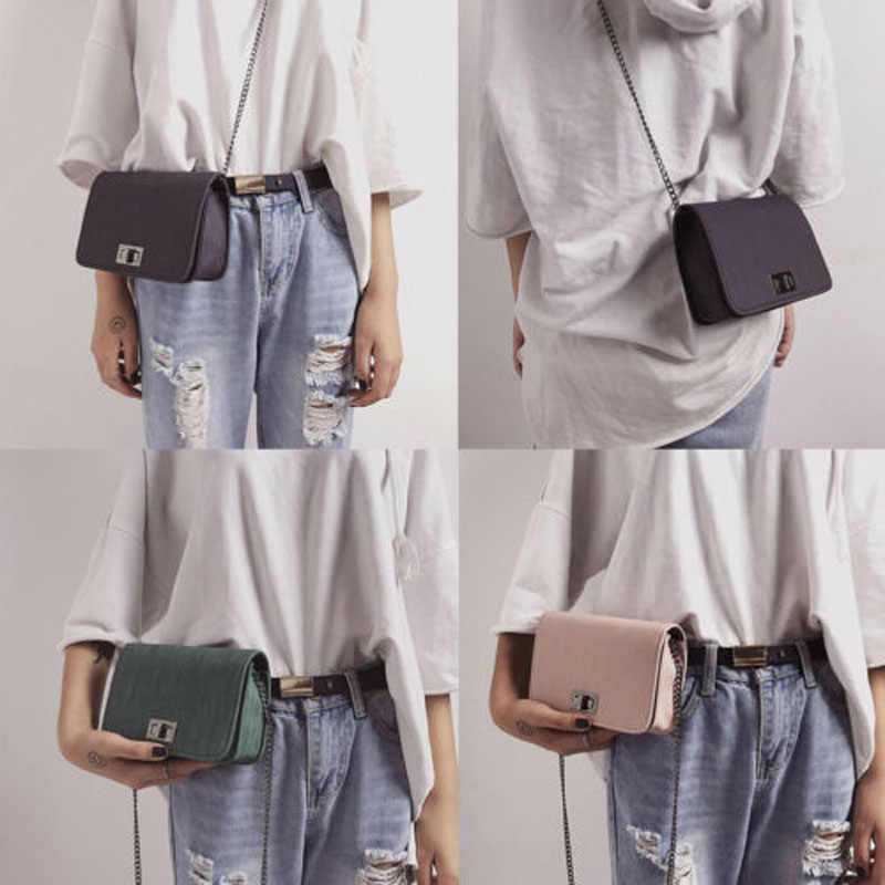 2019 Nova Marca de Moda Couro Do Falso Das Mulheres Bolsa Pequena Bolsa Mensageiro Corpo Cruz Bolsa de Ombro Bolsa