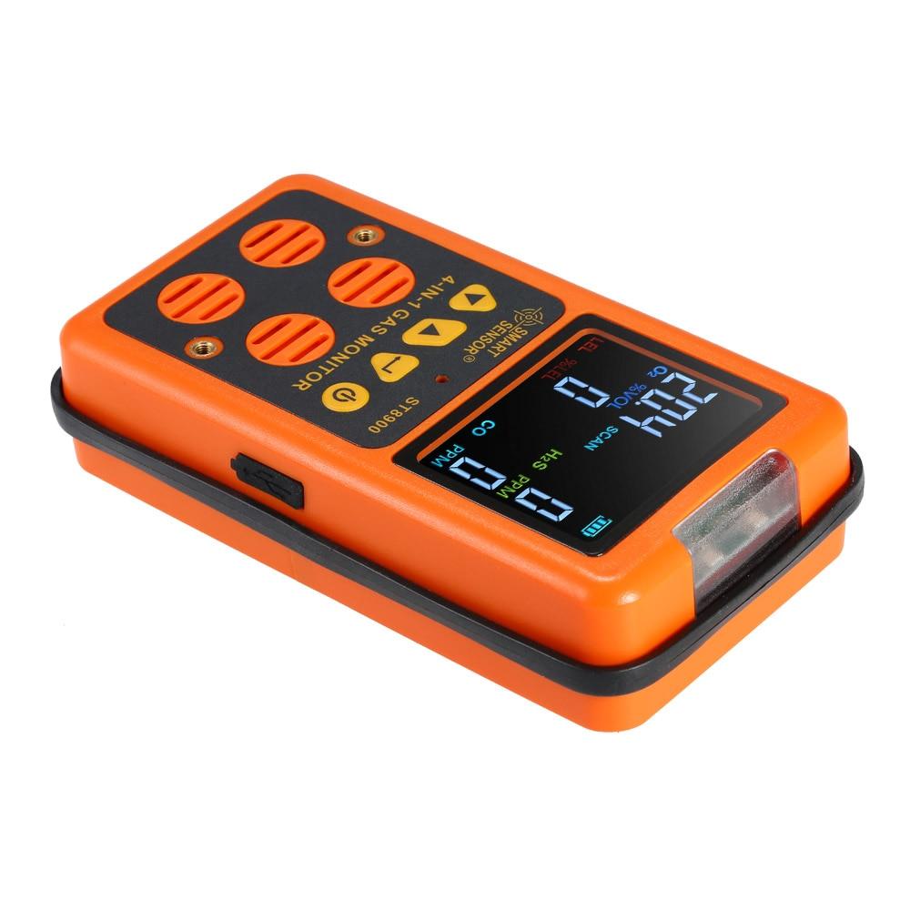 UE Plug Numérique LCD Alarme De Poche Détecteur de Gaz CO Monoxyde De Carbone Carbonique Oxyde D'oxygène Toxique de Gaz de Sulfure Moniteur Testeur Compteur