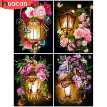 HUACAN 5d DIY Diamond Painting Flower Full Square Embroidery Rhinestone Picture Mosaic With
