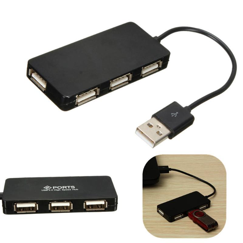 High Quality hot sale USB 2.0 Hub Speed 4 Port USB Splitter USB Hub 2.0 Adapter Laptop Accessories hab usb For PC Computer Black