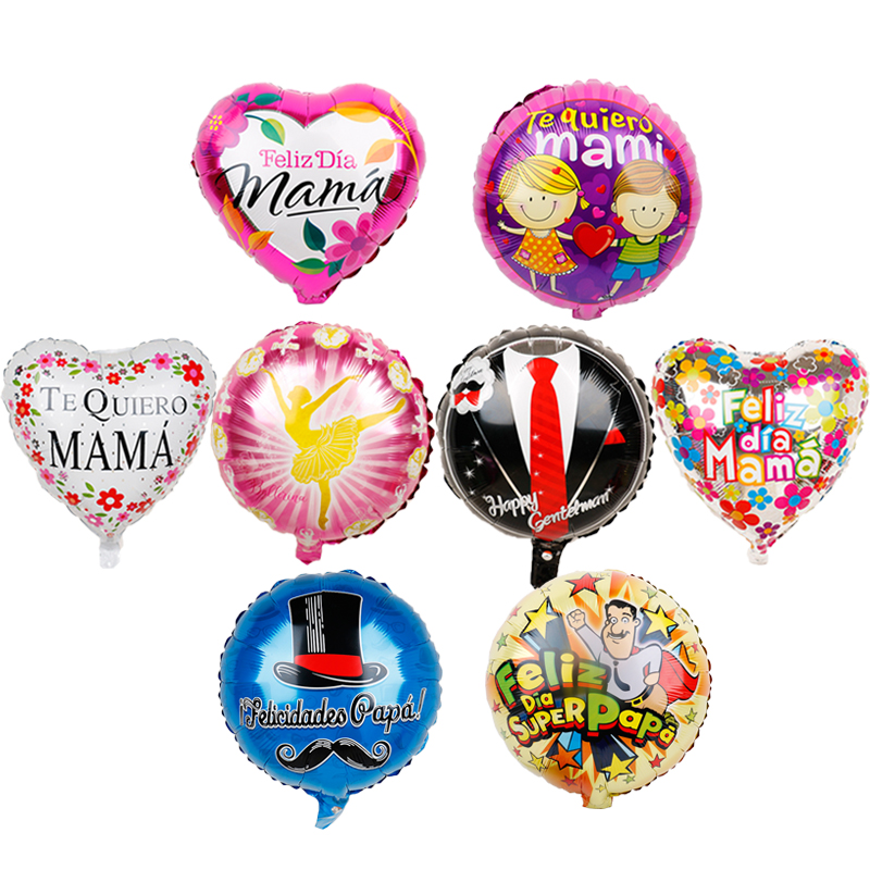 1pc 18inch father's day Foil Balloons Feliz Dia Super <font><b>Papa</b></font> Spanish Te amo love <font><b>mama</b></font> Birthday Party Decor kids <font><b>toys</b></font> mother Party image