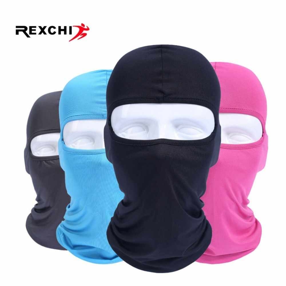 REXCHI Cycling Face Mask Dustproof Lycra for Women Men Hat Bike Caps Bicycle Motorcycle Riding Faceshield Windproof Headband