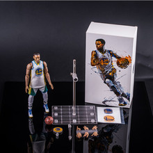 4e4edd6dd 22cm NBA basketball player Stephen Curry 30th jersey 1 9 white jersey DOLL  Action Collectible