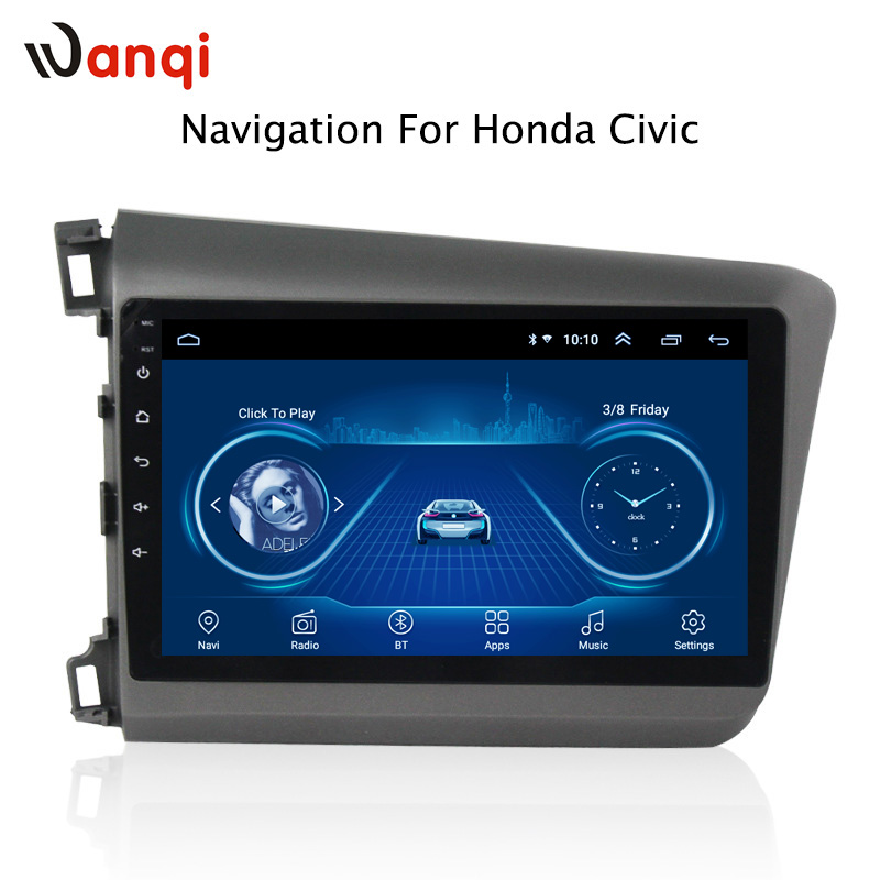 9 inch android 8.1 vehicle car dvd multimedia gps navigation system for Honda civic 2012-2015 support car steering wheel control9 inch android 8.1 vehicle car dvd multimedia gps navigation system for Honda civic 2012-2015 support car steering wheel control