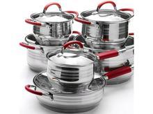 Набор для приготовления MAYER & BOCH, 12 предметов, красные ручки