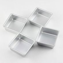Square Small Baking Pan Tray Pastry Pudding Bread Baking Forms Pan Cookie Cake Pan Mold Microwave Dish Baguette Baking Tray(China)