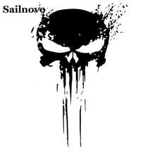 Sailnovo 15CM X 10CM Funny Car Stickers PUNISHER Skull BLOOD Vinyl Car Sticker Decals Paster Motorcycles Decoration Car Styling(China)